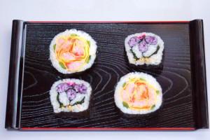 飾り巻き寿司バラ